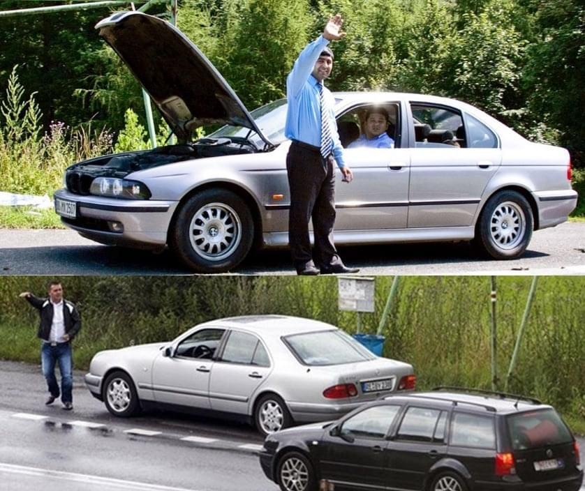 podvodníci u silnic